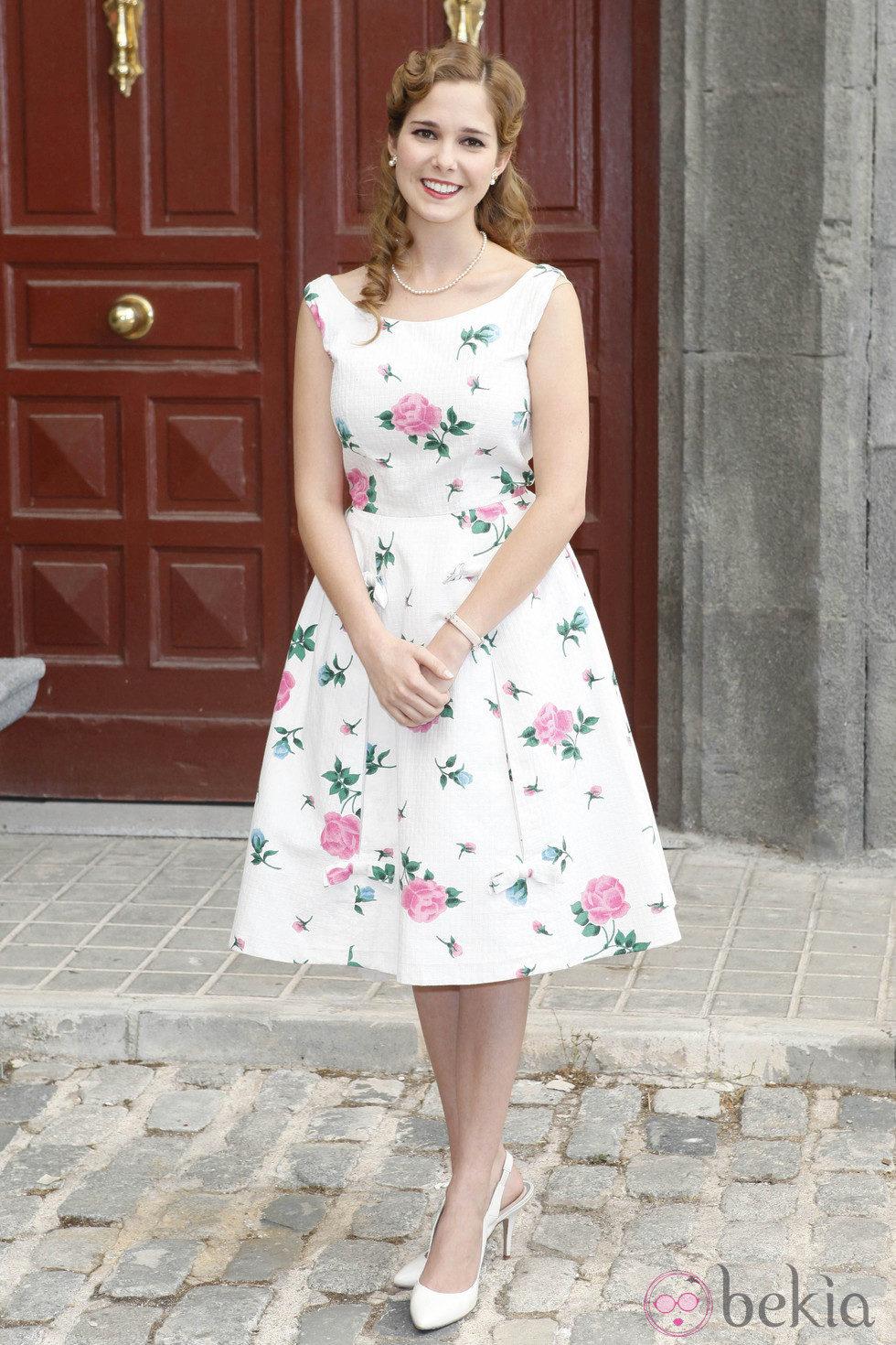 Natalia Sánchez en la presentación de la séptima temporada de 'Amar en tiempos revueltos'