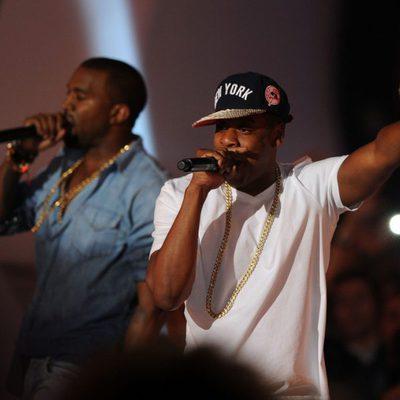 Jay-Z y Kanye West actuando en los MTV Video Music Awards 2011