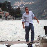 George Clooney tras abandonar el barco en el que disfrutó del Lago Como
