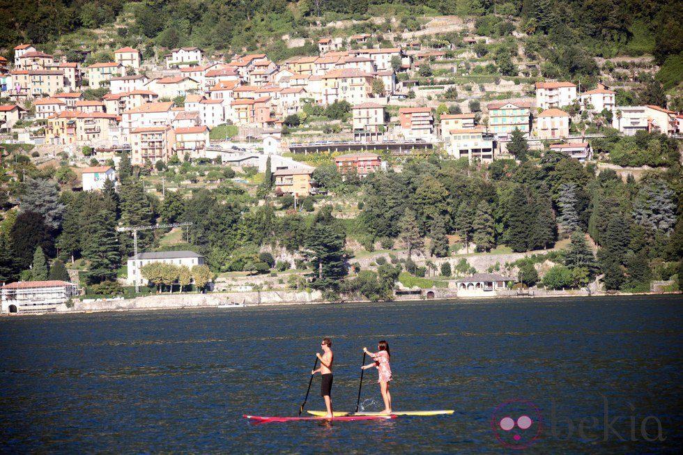 Cindy Crawford y Rande Gerber, dos turistas de lujo en el lago Como