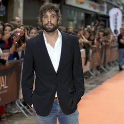 Unax Ugalde en el estreno de 'El corazón del océano' en el FesTVal de Vitoria