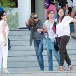 María José Campanario con sus compañeras de la Universidad Europea de Madrid