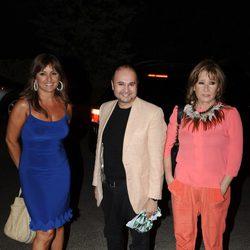 Beatriz Cortázar, Sergio Alis y Mila Ximénez en el cumpleaños de Terelu Campos