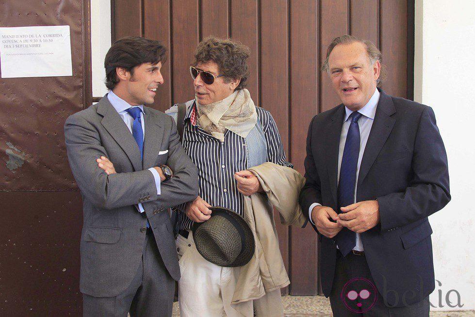 Fran Rivera, Jesús Quintero y Pedro Piqueras en la corrida Goyesca de Ronda