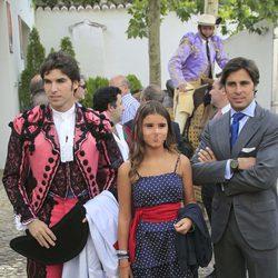 Cayetano Rivera, Fran Rivera y su hija Cayetana en la corrida Goyesca de Ronda