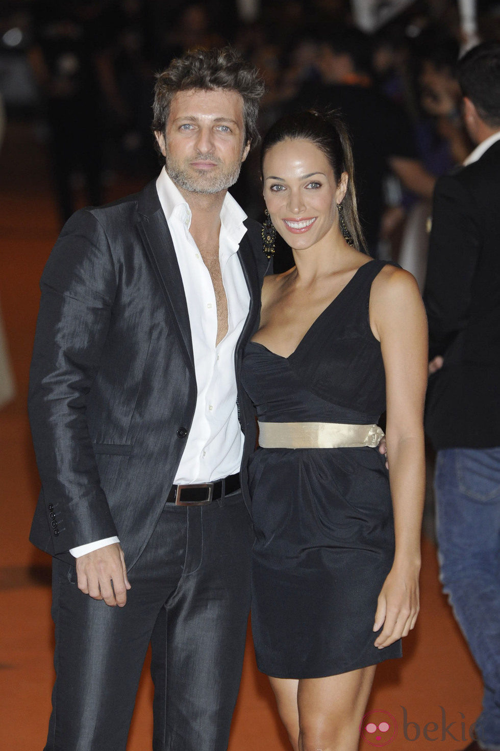 Jesús Olmedo y Nerea Garmendia en la clausura del FesTVal de Vitoria