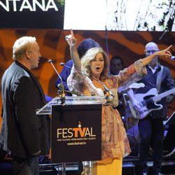 Ana Rosa Quintana eufórica en la clausura del FesTVal de Vitoria