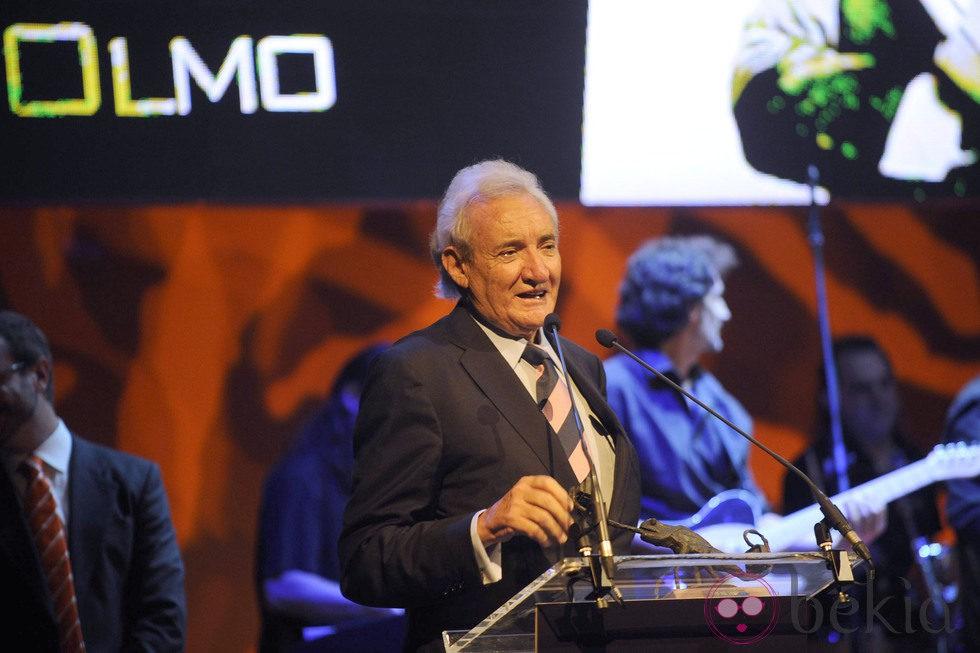Luis del Olmo en la clausura del FesTVal de Vitoria
