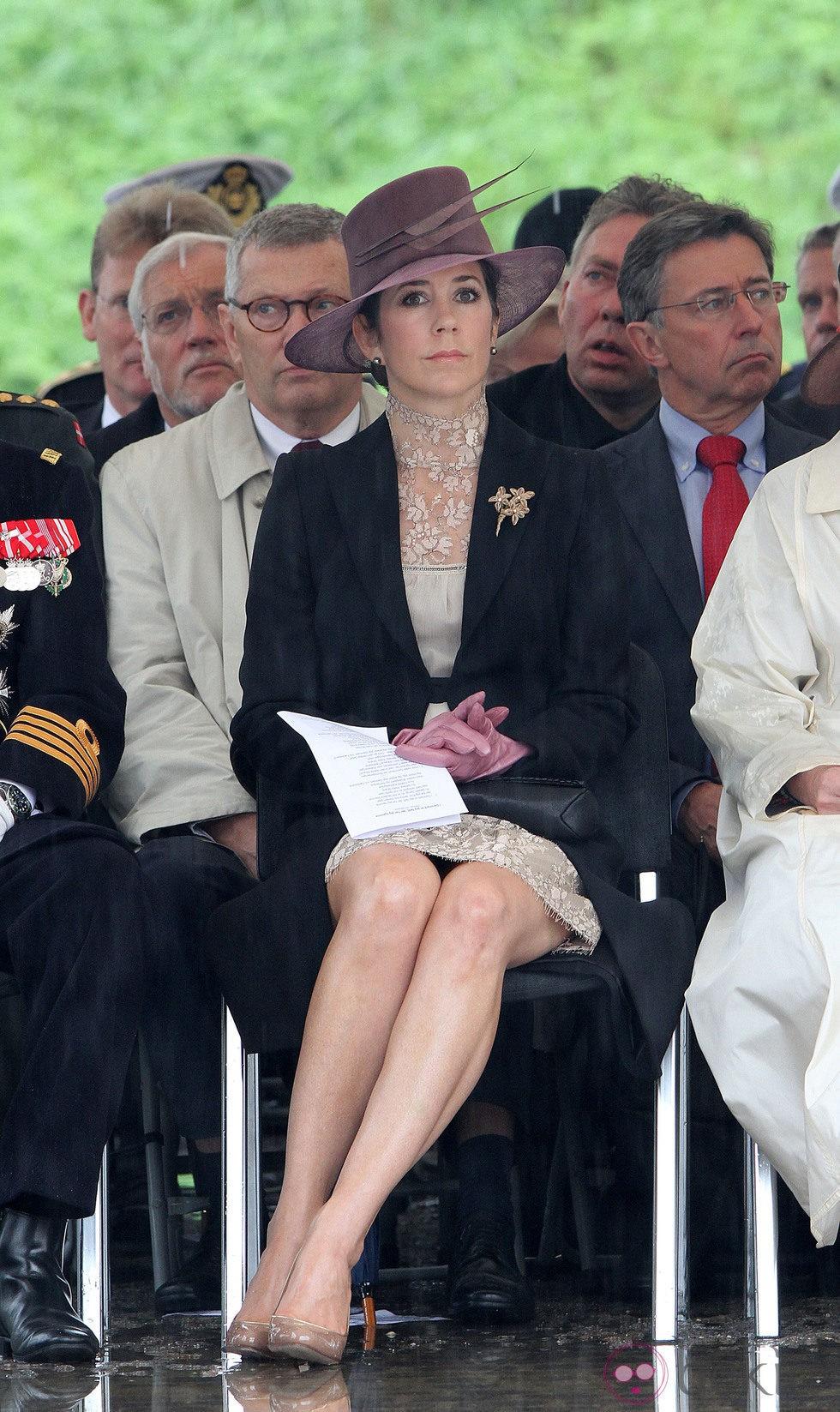 La Princesa Mary de Dinamarca en un homenaje a los soldados caídos