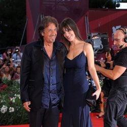 Al Pacino and Lucilla Sola en la presentación de 'Wilde Salome' en la Mostra de Venecia