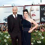 Mark Strong y Liza Marshall en el estreno de 'Tinker, Tailor, Soldier, Spy' en la Mostra de Venecia