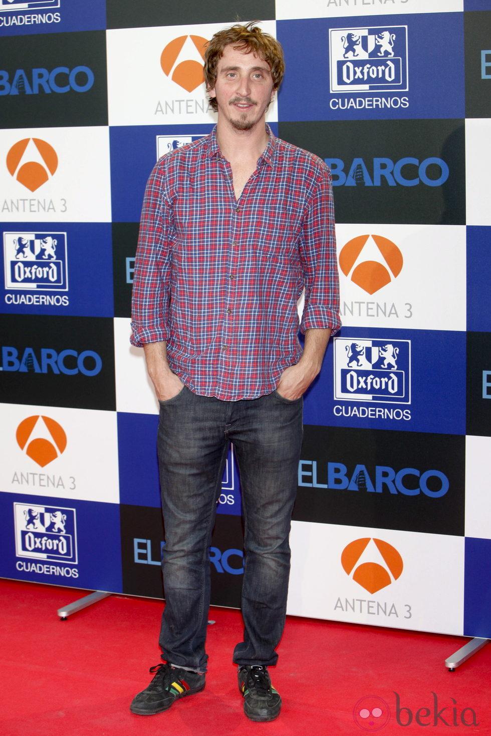 Iván Massague en el estreno de la segunda temporada de 'El barco'