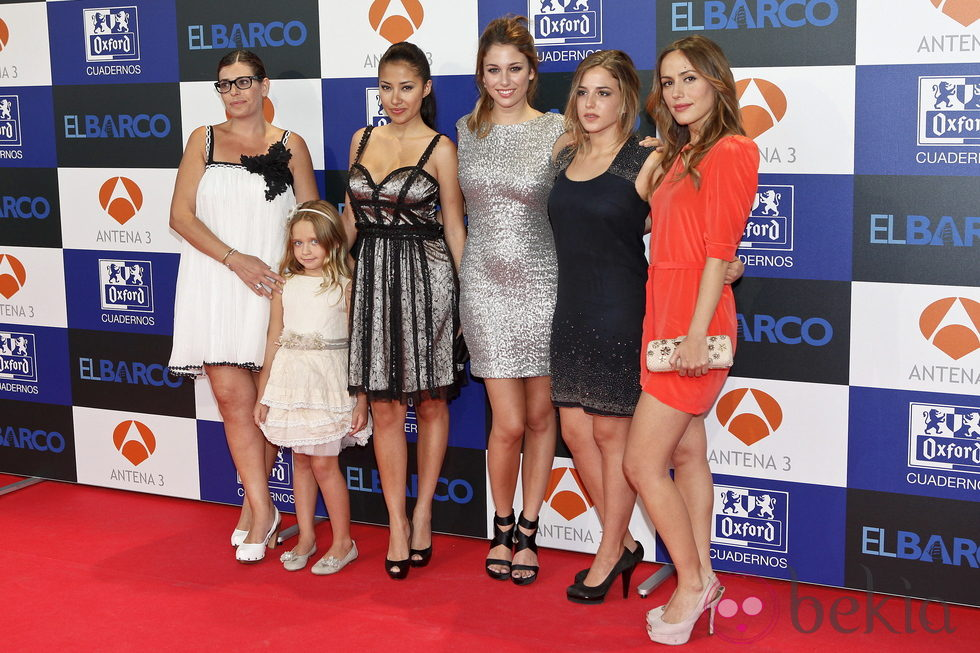 Neus Sanz, Patricia Arbues, Giselle Calderón, Blanca Suárez, Marina Salas e Irené Montalá en el estreno de la segunda temporada de 'El barco'