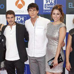 Javier Hernández, Mario Casas y Blanca Suárez en el estreno de la segunda temporada de 'El barco'