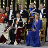 El Rey Guillermo Alejandro y Máxima de Holanda en la investidura de Guillermo Alejandro