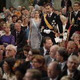 Los Príncipes Felipe y Letizia en la ceremonia de investidura de Guillermo Alejandro de Holanda