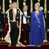Guillermo Alejandro y Máxima de Holanda en la ceremonia de investidura