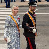 Haakon y Mette-Marit de Noruega en la investidura de Guillermo Alejandro de Holanda