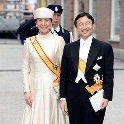 Naruhito y Masako de Japón en la investidura de Guillermo Alejandro de Holanda