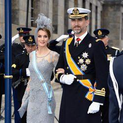 Los Príncipes Felipe y Letizia en la investidura de Guillermo Alejandro de Holanda