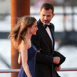 Los Príncipes de Asturias en la cena de gala por la coronación de Guillermo Alejandro de Holanda