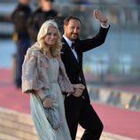 Haakon y Mette-Marit de Noruega en la cena de gala por la coronación de Guillermo Alejandro de Holanda