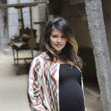 Mónica Cruz embarazada en la presentación de la quinta temporada de 'Águila Roja'