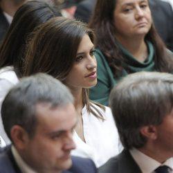 Sara Carbonero durante la entrega de la Medalla de Oro de la Comunidad de Madrid