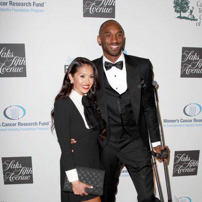 Kobe Bryant y Vanessa Bryant en la 16ª gala de Investigación del Cáncer de Mujeres