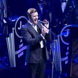 Justin Timberlake cantando durante su concierto en el Roseland Ballroom de Nueva York