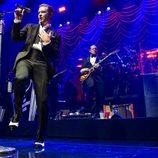 Justin Timberlake durante su concierto en el Roseland Ballroom de Nueva York