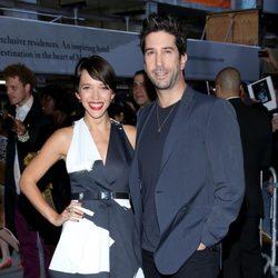 David Schwimmer y su mujer Zoe Buckman en una proyección de 'El Gran Gatsby' en Nueva York
