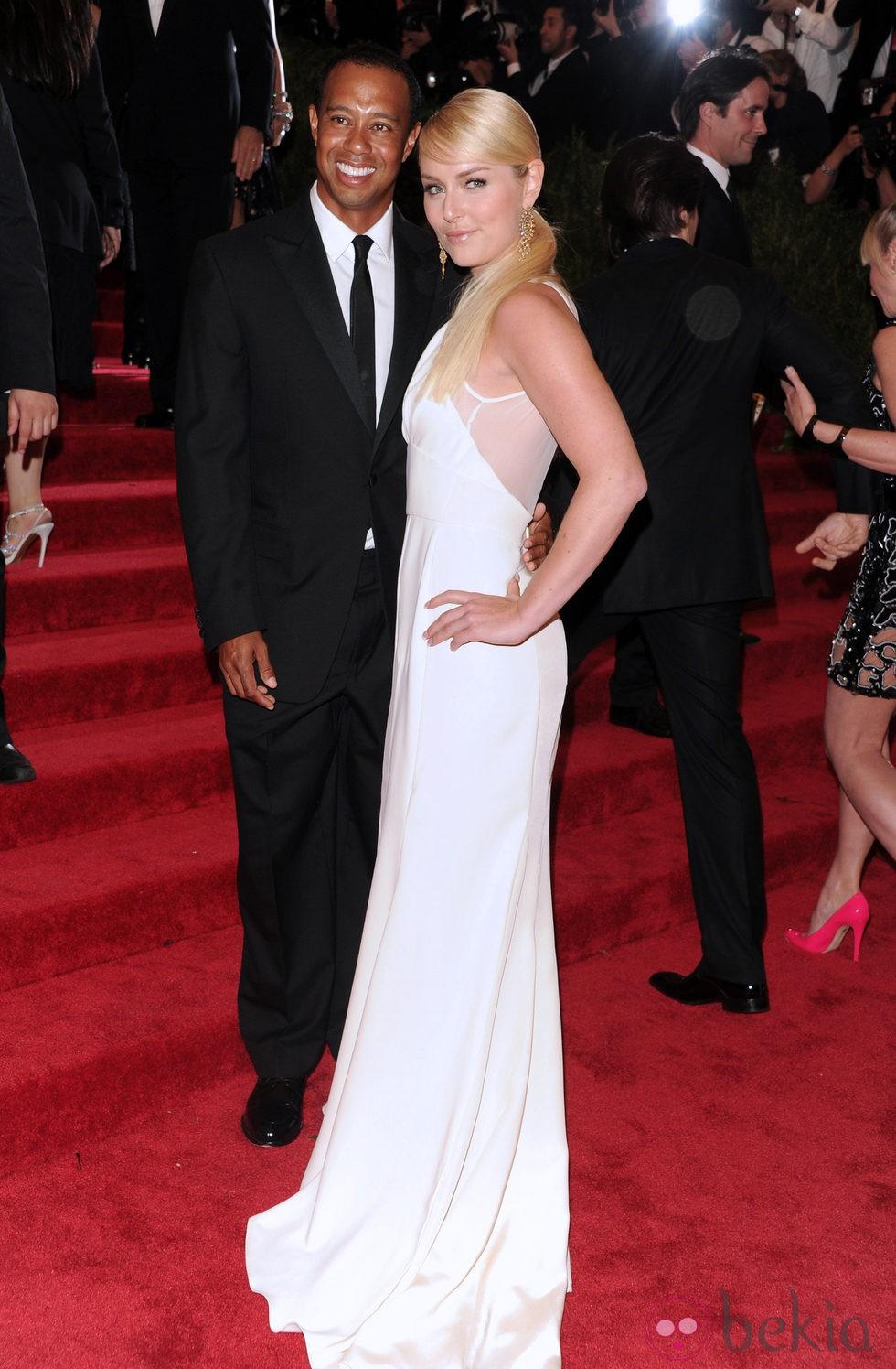 Tiger Woods y Lindsey Vonn en la Gala del MET 2013