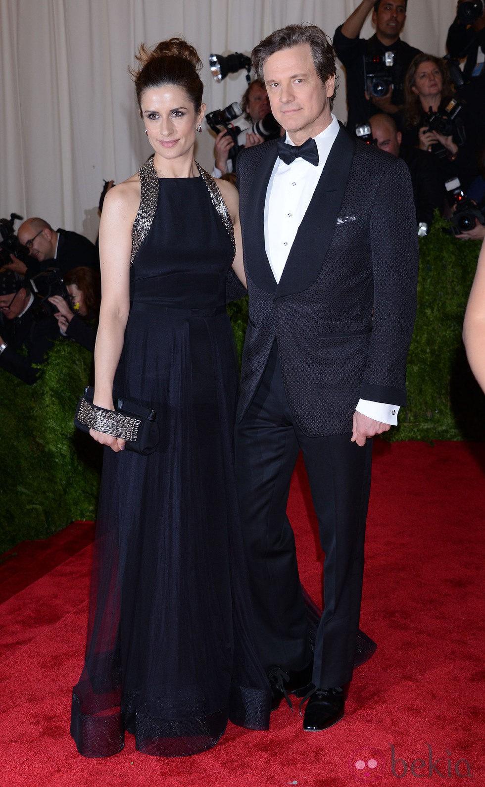 Colin Firth y Livia Giuggioli en la Gala del MET 2013