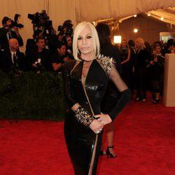 Donatella Versace en la Gala del MET 2013