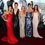 Michelle Rodriguez, Gal Gadot, Elsa Pataky, Gina Carano y Jordana Brewster en el estreno mundial de 'Fast&Furious 6'