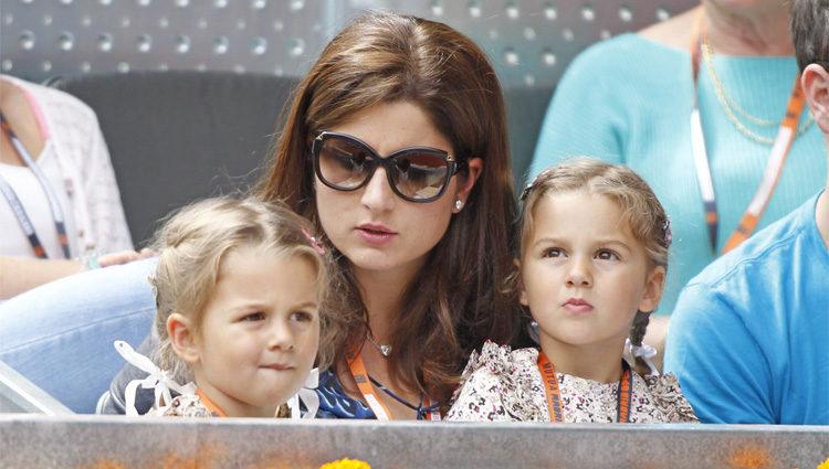 La mujer y las hijas de Roger Federer en el Open Madrid 2013