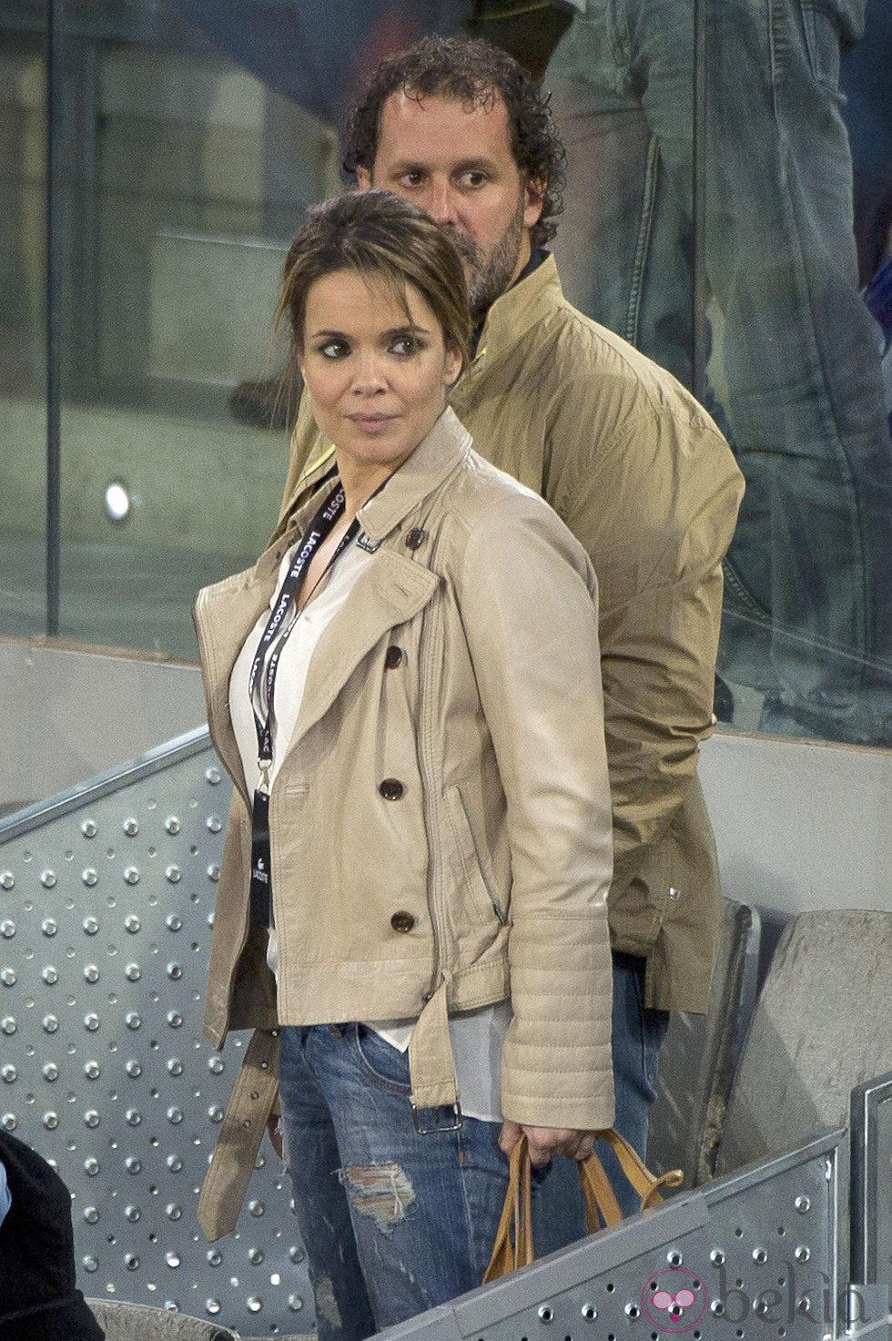 Chaparro presumió de embarazo en el torneo de tenis Open Madrid 2013