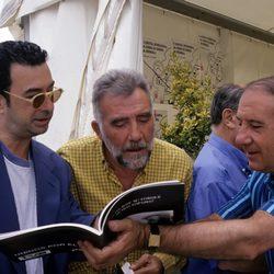 Alfredo Landa con Fernando Guillén y José Luis garci