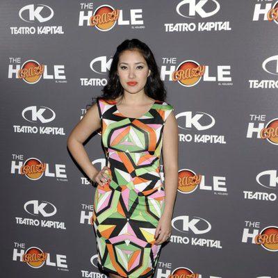 Giselle Calderón en la celebración de las 500 funciones de 'The Hole'