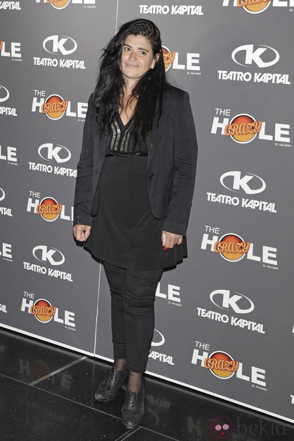 Lucía Etxebarría en la celebración de las 500 funciones de 'The Hole'