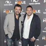 Paco Tous y Pepón Nieto en la celebración de las 500 funciones de 'The Hole'