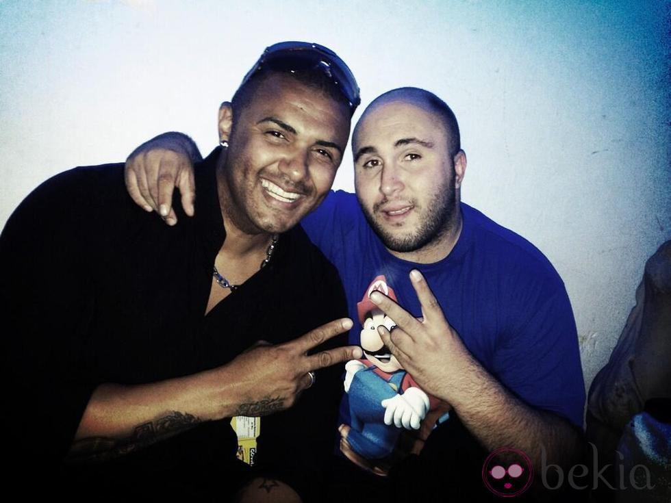 Kiko Rivera y Henry Mendez en la fiesta de la emisora musical Ké buena en Madrid