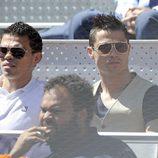 Cristiano Ronaldo y Pepe en la final del Open de Madrid 2013