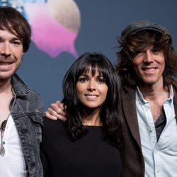Raquel del Rosario, David Feito y Juan Luis Suárez en el Festival de Eurovisión 2013