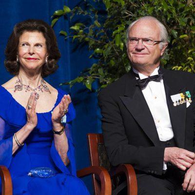 Carlos Gustavo y Silvia de Suecia en la conmemoración del 375 aniversario de Nueva Suecia