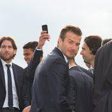 David Beckham celebra con el Paris Saint Germain el título de la Liga francesa