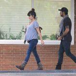 Penélope y Eduardo Cruz en la clínica Ruber para asistir al parto de su hermana Mónica
