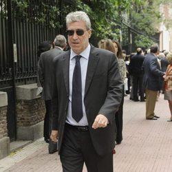 Miguel Ángel Rodríguez en el funeral de Mercedes de la Merced