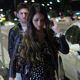 Leo Messi y Antonella Roccuzzo a la salida de un restaurante de Milán